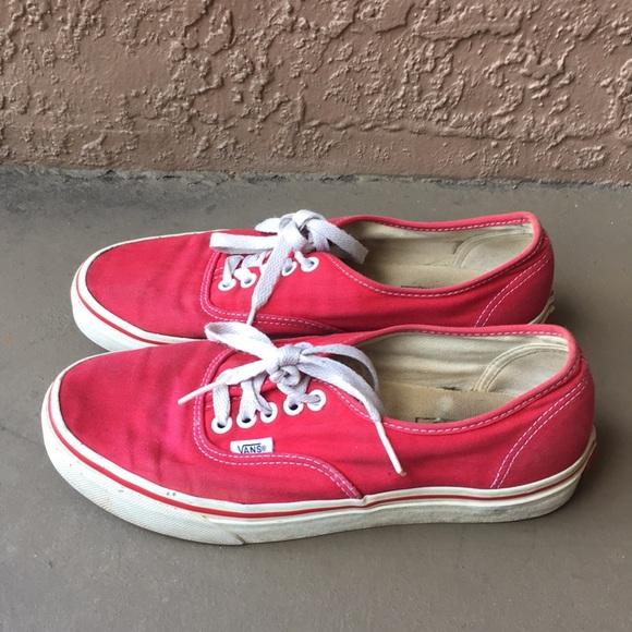 Men Vans Old School Red Shoes Size 2
